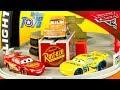 Disney Pixar Cars 3 Piston Cup Portable Race Track Playset McQueen Ramirez Smokey Toy Review