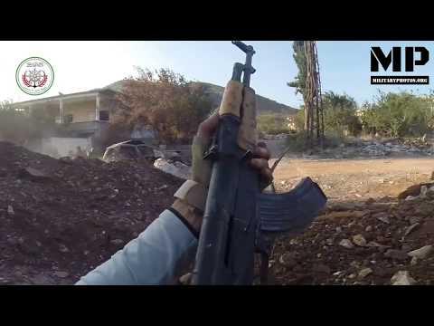 Syria War 2017 POV - FSA rebels in heavy urban combat