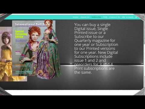 IDA Magazine Tutorial - International Doll Artists Magazine Ooak Art Dolls
