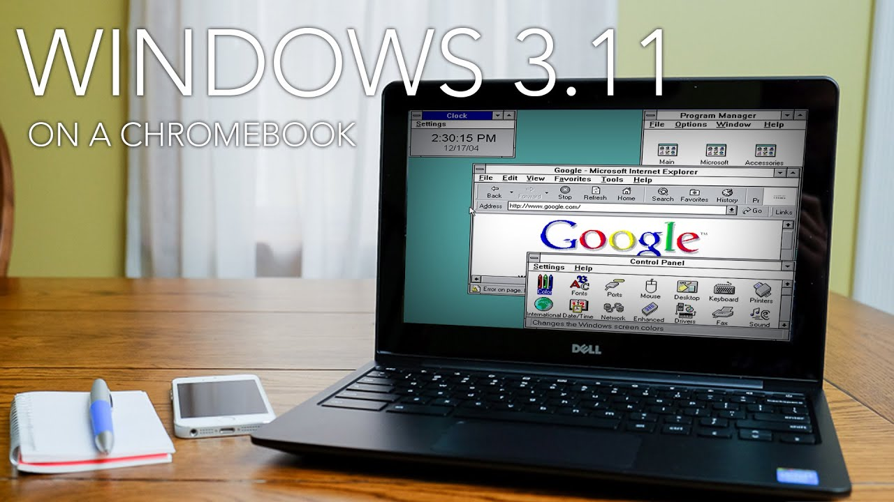 Windows 3 11 On A Chromebook Youtube