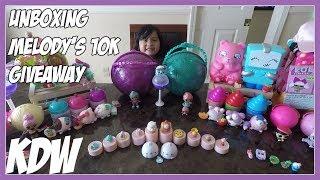 Unboxing Melody's 10k Giveaway LOL Pearl Pets Confetti Pop, Shopkins, Smooshy Mushy