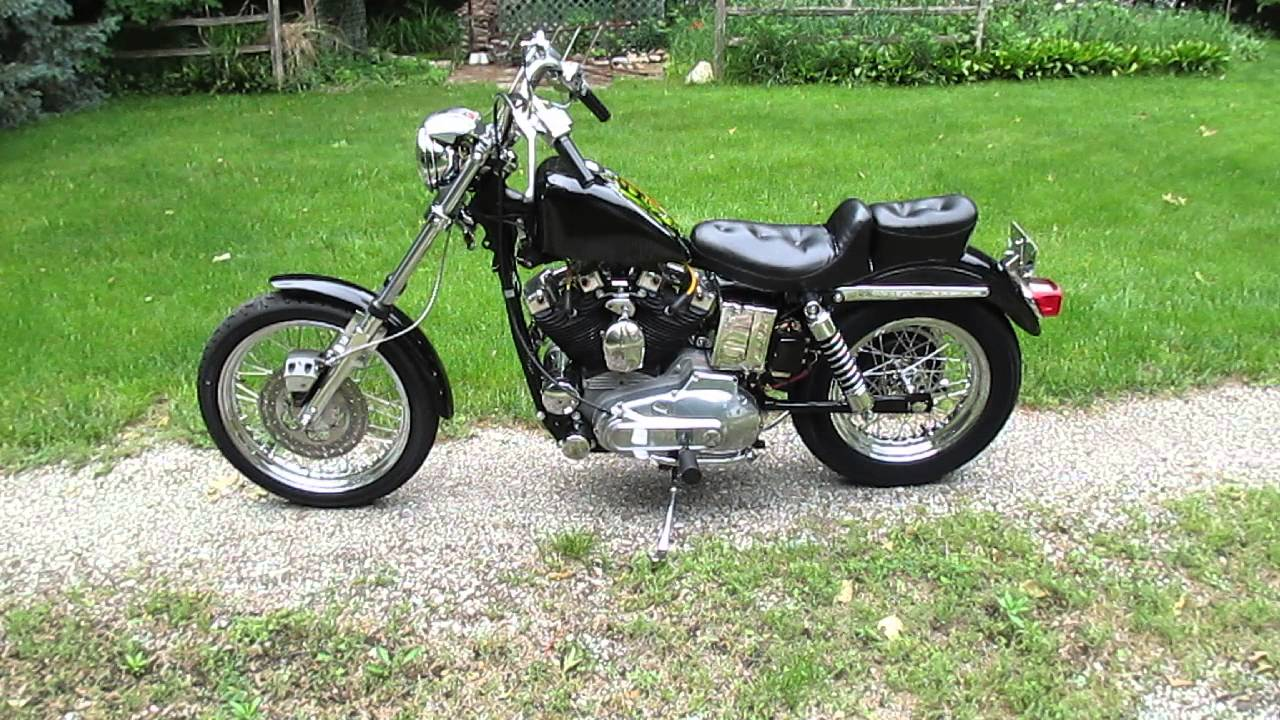 1974 XL Harley Ironhead Sportster  YouTube