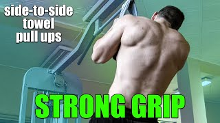 Side to Side Towel Pull ups with towel (Grip Training  for ArmWrestling )