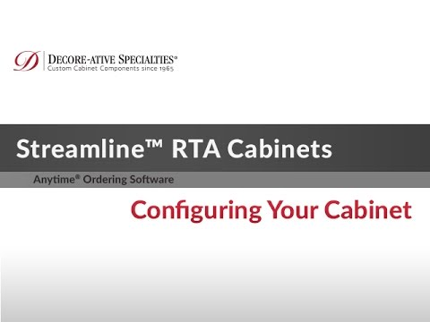 Streamline Rta Cabinets Configuring Your Cabinet