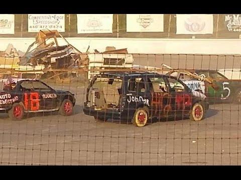 Mens 50 Lap Figure 8 Enduro (full race) 2014 Crashocolypse / Crashorama at Lake County Speedway