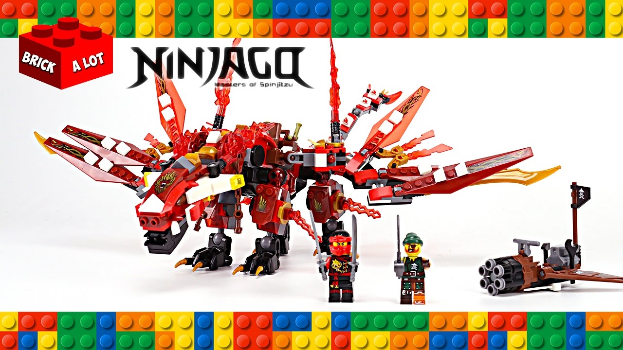 lego ninjago kais skybound dragon unofficial set speed build youtube