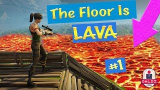 EPIC The Floor is LAVA Challenge in Fortnite: Battle Royale