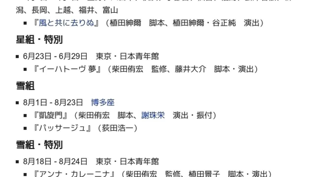 2001年の宝塚歌劇公演一覧」とは...