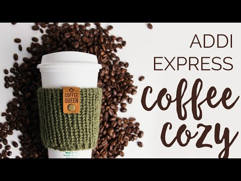 Knit Coffee Cozy - Knitting Machine Pattern