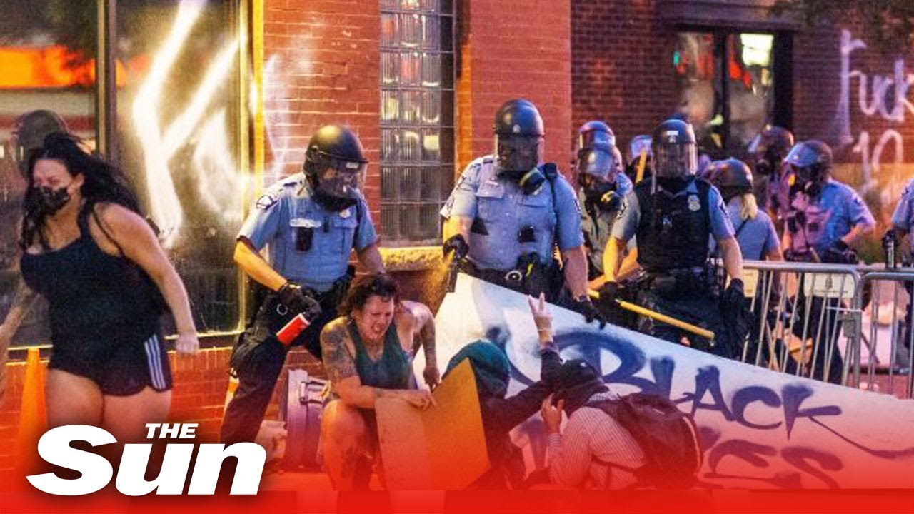 George Floyd protests: Another night of chaos and fury as protesters ...