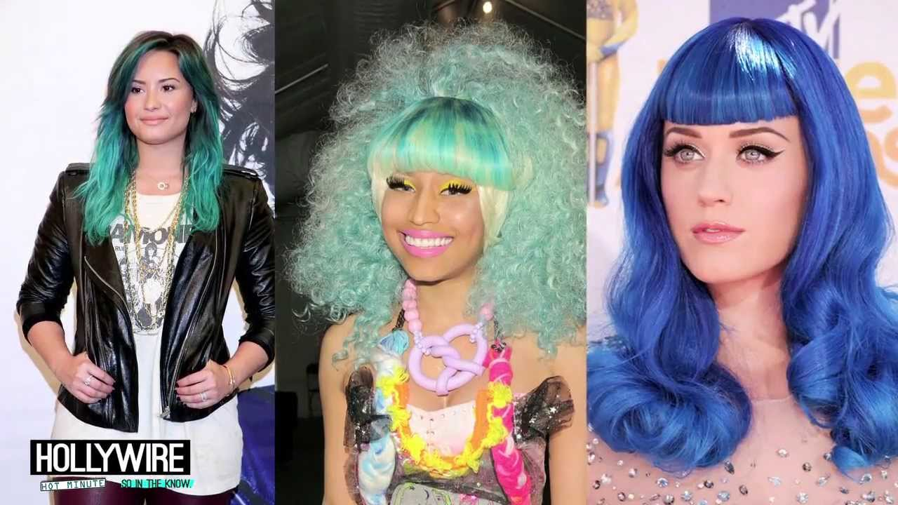 Demi Lovato Vs Nicki Minaj Vs Katy Perry Best Blue Hair