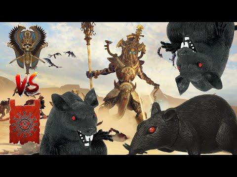 HEIROTITAN FACES CLAN MOULDER ! Tomb Kings vs Skaven - Total War Warhammer 2 |
