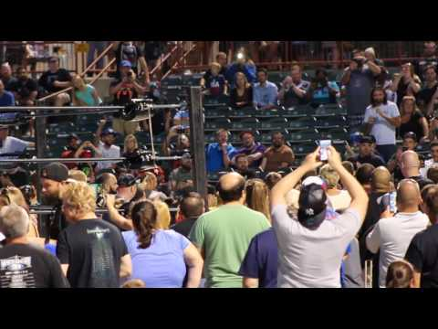 Rey Mysterio Enters Joe Bruno Stadium