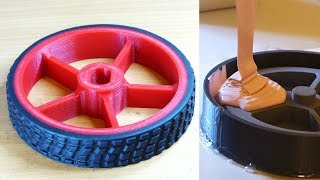Making Rubber Tyres for 3D Printed Wheels