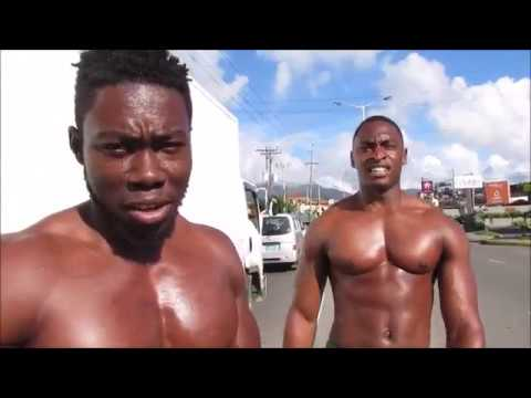 Naked men working out in the streets of Jamaica| Connor Murphy in Jamaica