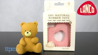 Heart and Bear Natural Rubber Toys from Lanco Toys