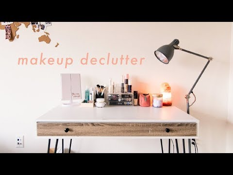 Makeup Declutter | decluttering & organizing my makeup collection thumbnail