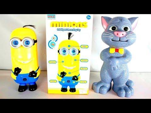 لعبة مينيون المتكلم والقط توم تقليد الاصوات للبنات والاولاد افضل العاب المينيونز للاطفال