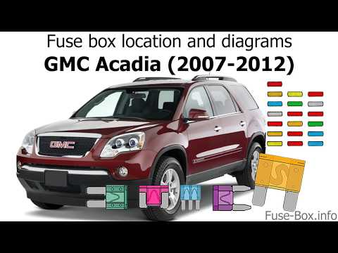 Fuse Box Location And Diagrams Gmc Acadia 2007 2012 Youtube
