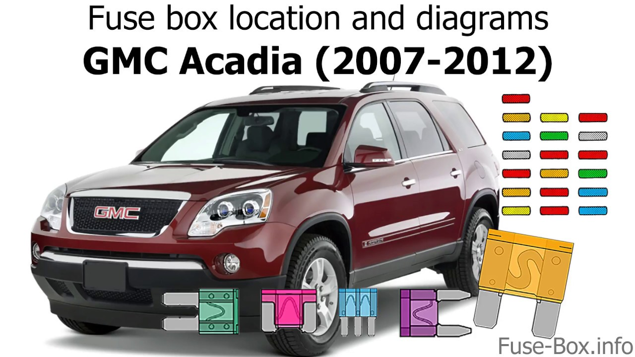 Fuse box location and diagrams: GMC Acadia (2007-2012) - YouTube