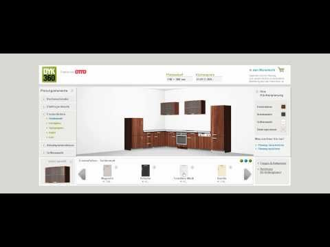 k chen online planen bei dyk360 mit dem 3d k chenplaner youtube. Black Bedroom Furniture Sets. Home Design Ideas