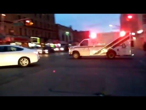 Bronx Lebanon EMS Responding In The Morrisania Section Of The Bronx