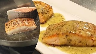 Salmon with a Lemony Compound Butter 2020 version