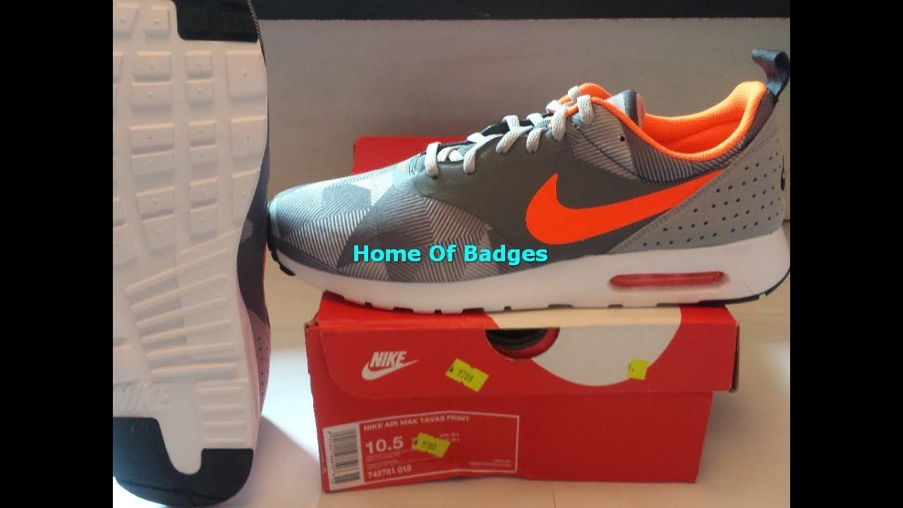 premium selection 5943d 79cbd 20151019 NIKE 2015 Q3 MEN AIR MAX TAVAS PRINT Fashion Sneaker Shoes  742781-014 - YouTube