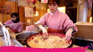 Japanese STREET FOOD Tour of Asakusa - UNIQUE JAPANESE SWEETS   Tokyo, Japan