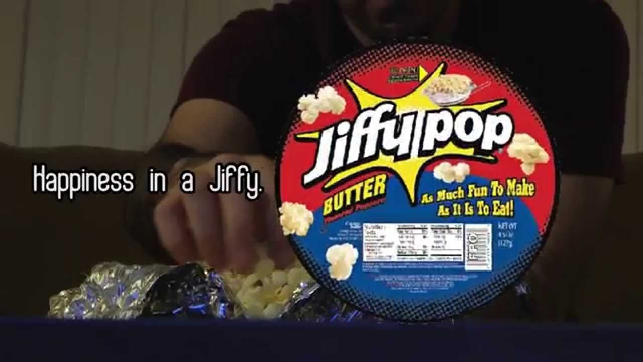 """Happiness in a Jiffy"" - Jiffy Pop Commercial"