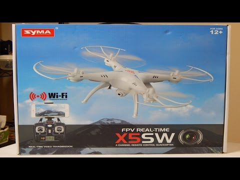 Syma X5SW Quadcopter Unboxing And Review (Courtesy of GearBe