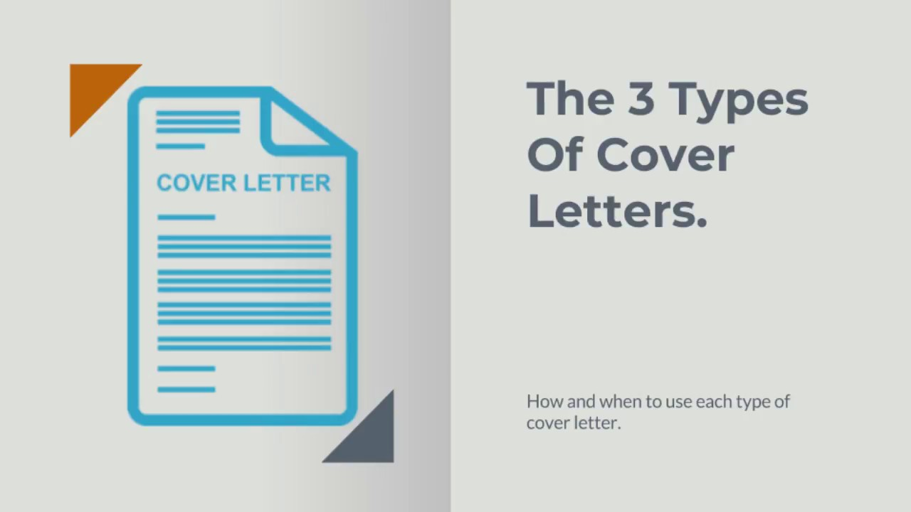 The 3 Types Of Cover Letters