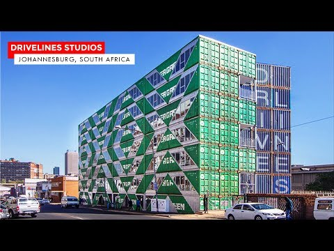 Drivelines Studios: Container Housing by LOT-EK in Jo-burg