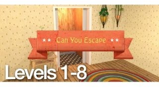 Can You Escape Walkthrough Levels 1-8