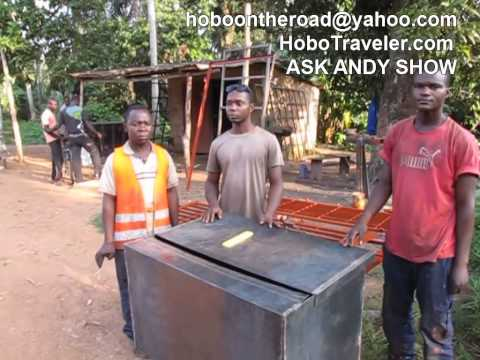 Solar Wood Kiln Togo West Africa Declared Success July 30, 2015