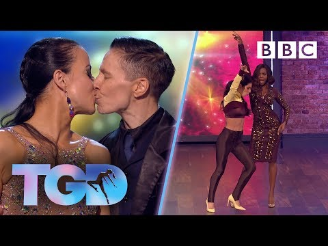 Cheryl and Oti jive in reaction to same-sex couple Santra and Piia - The Greatest Dancer | Auditions