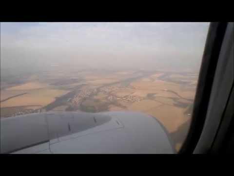 B737-900, Tirana takeoff (rwy 36) and Prague landing (rwy 13) onboard