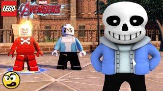 Lego Avengers (Vingadores) Como criar o SANS de UNDERTALE - Caraca Games