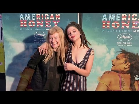Sasha Lane and Andrea Arnold at American Honey Premiere in Paris