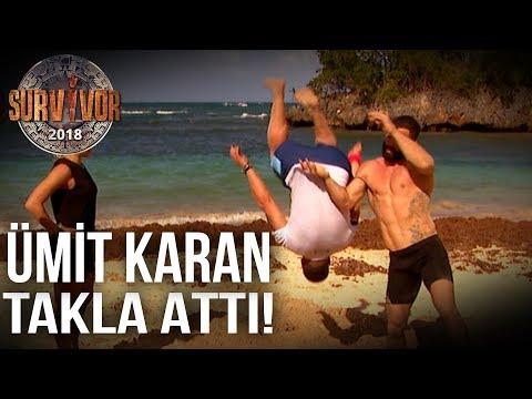 Survivor 2018 | TV'de Yok |  Turabi, Ümit Karan'a takla atmayı öğretti!