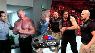 when security arrested wrestlers- roman reigns and goldberg, brock lesnar!!!