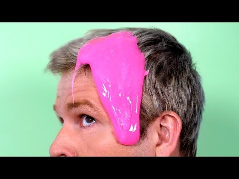 GLUE SLIME STUCK IN HAIR!