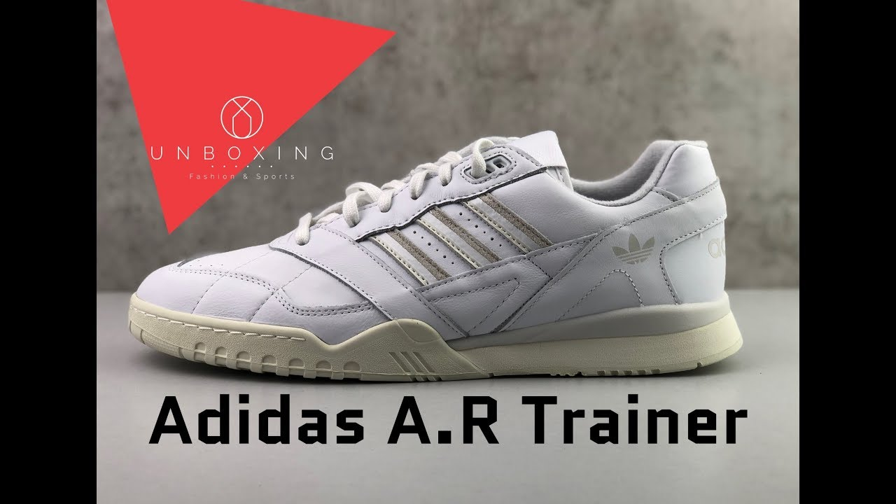 El principio transportar resbalón  Adidas A.R Trainer 'Ftwr White/Raw White/Off White' | UNBOXING & ON FEET |  fashions shoes | 2019 - YouTube