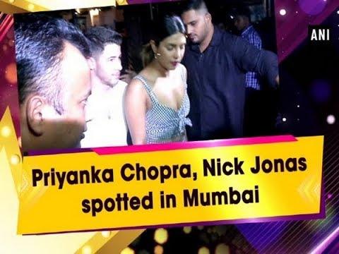 Priyanka Chopra, Nick Jonas spotted in Mumbai - Bollywood News