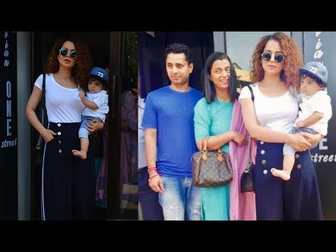 Kangana Ranaut Spotted With Her Nephew And Sister Post Lunch At Bastian Restaurant In Bandra Mp3