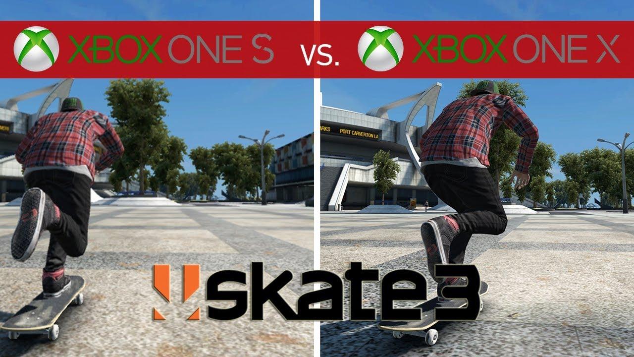 Skate 3 comparison xbox one x vs. Xbox one s youtube.