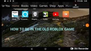 How to be in the old roblox but it's in roblox games