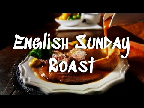 Traditional English Sunday Roast || Supper in a British Pub