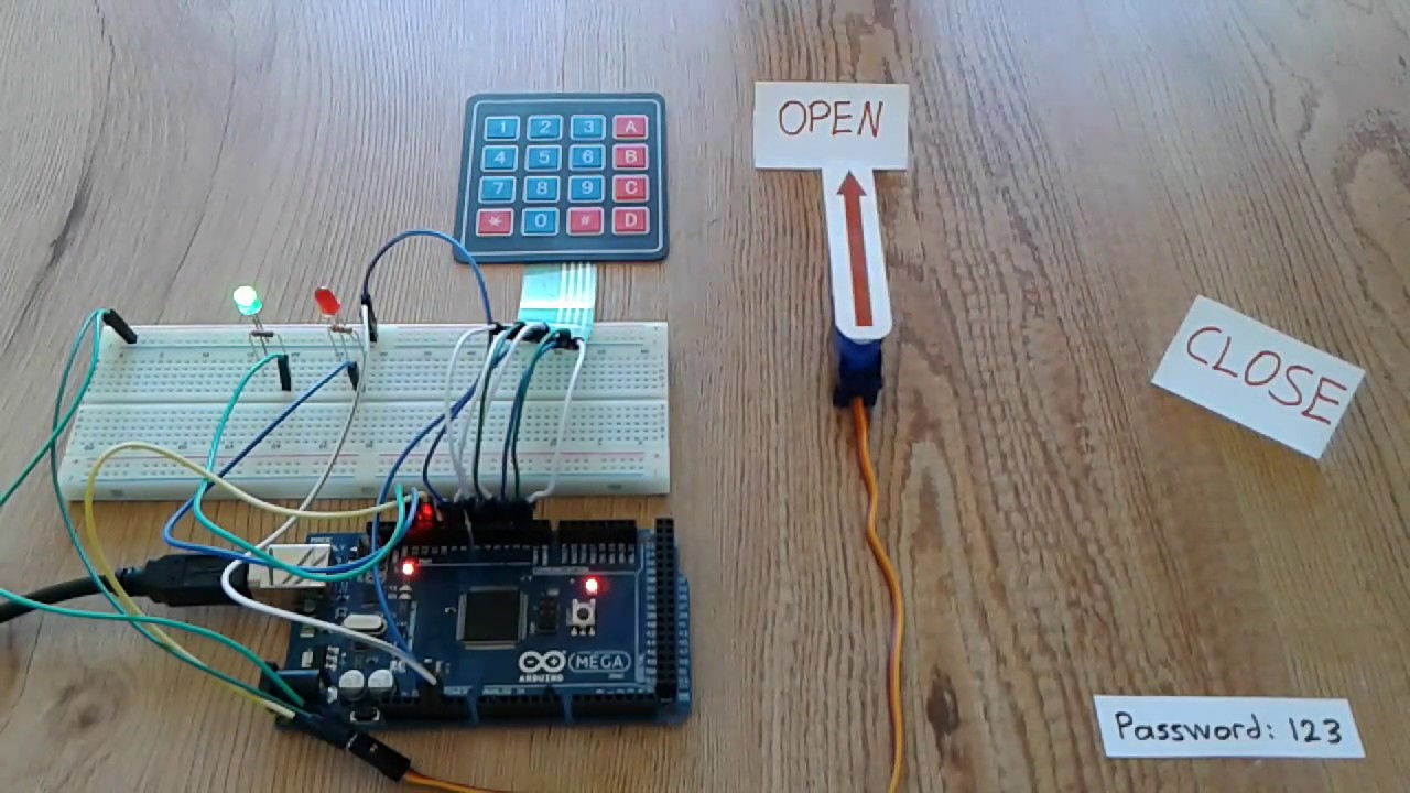 Arduino Door Lock Using 4×4 Keypad and Servo Motor | Open