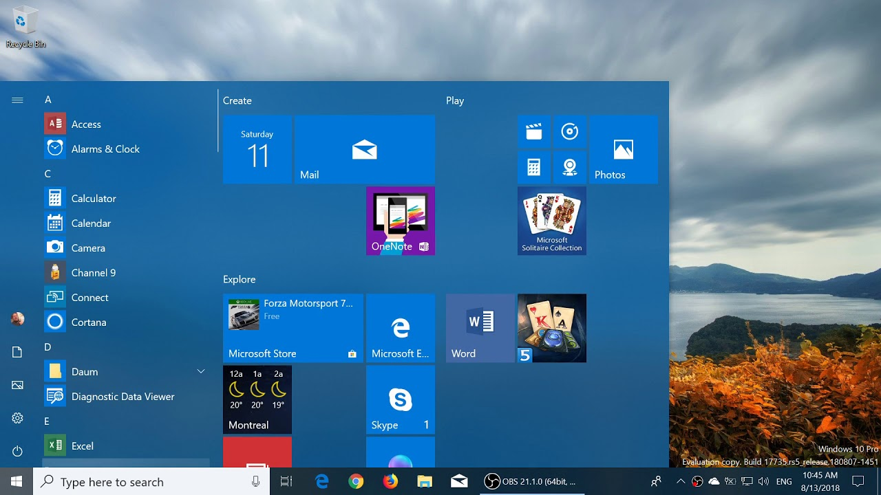 windows 10 pro redstone 5 review